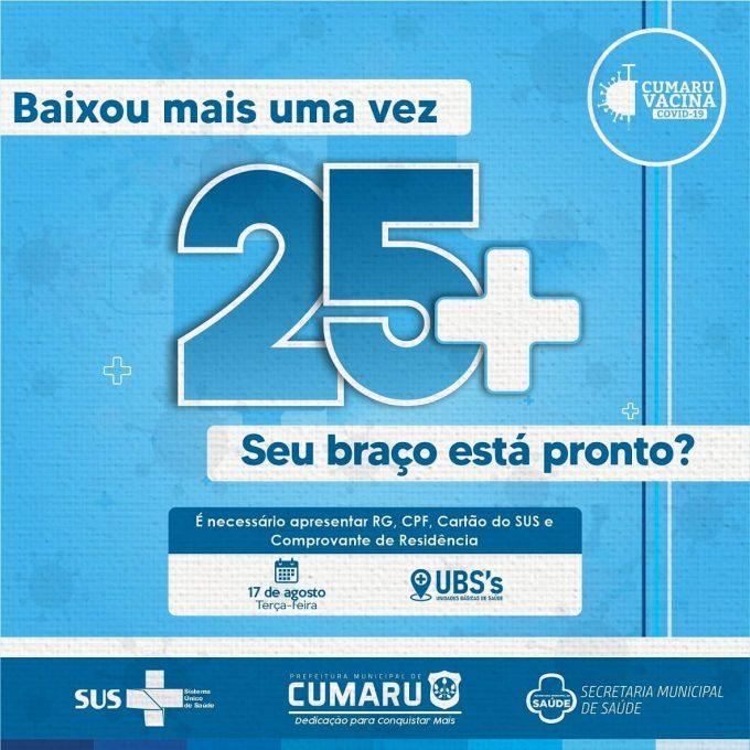 CUMARU VACINA! 25+